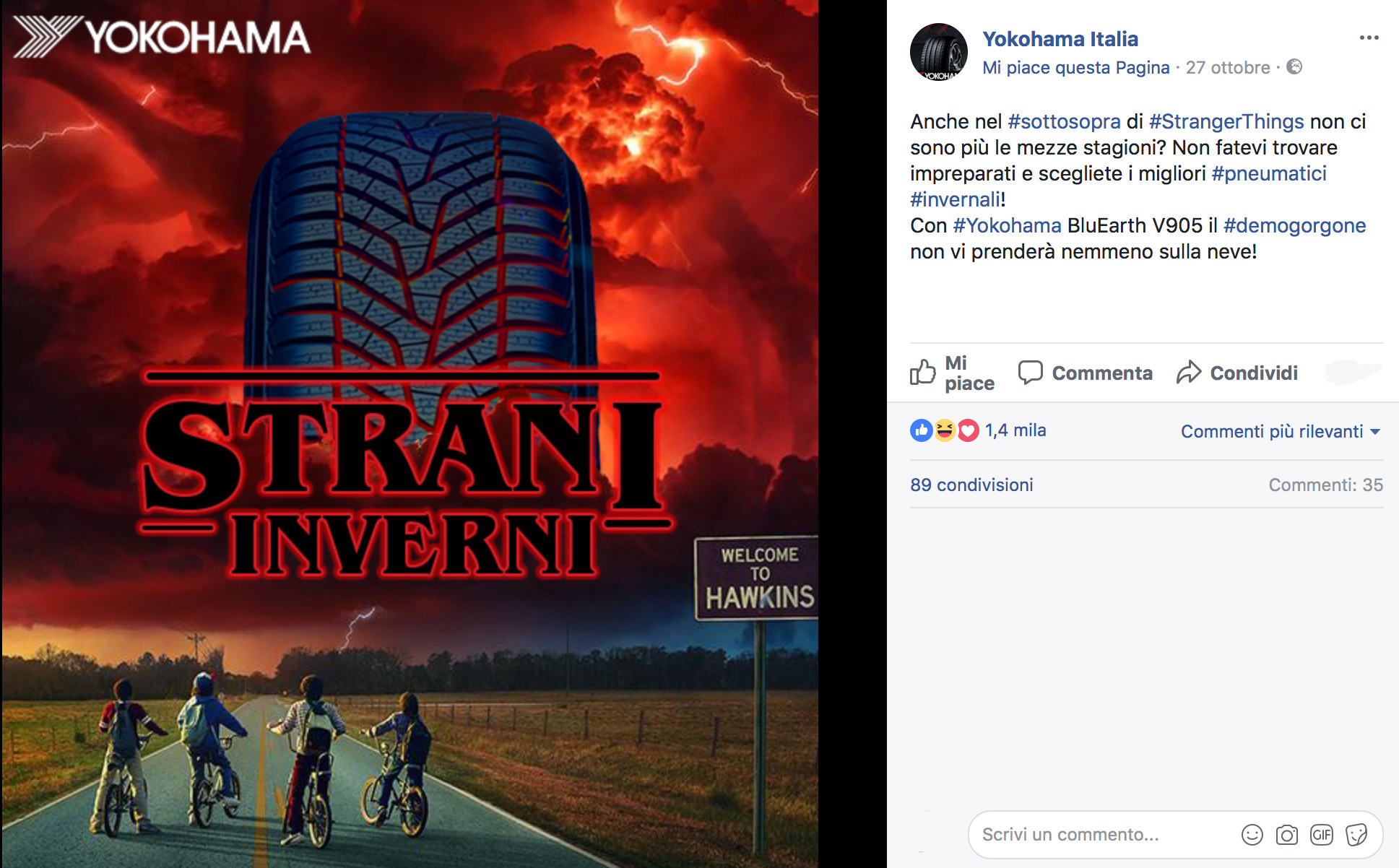 social network - Yokohama Italia per Stranger Things 2